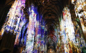 Light in St. Stephen's Cathedral in Vienna — Stock Photo
