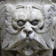 Sculpted stone mask figure on St. Stephen's Cathedral in Vienna — Stock Photo