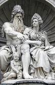 Neptune Fountain, Vienna, Austria — Stock Photo