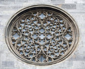Rose window on St. Stephen's Cathedral in Vienna — Stock Photo