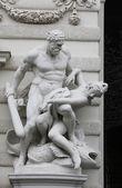Hercules statue at the Royal Palace Hofburg,Vienna, Austria — Stock Photo