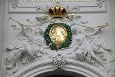 Emperors crown Symbol at Hofburg, Vienna, Austria — Stock Photo