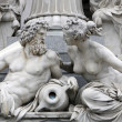 Danube and Inn, detail of Pallas-Athene fountain, Vienna - Stock Photo