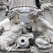 Royalty-Free Stock Photo: Danube and Inn, detail of Pallas-Athene fountain, Vienna