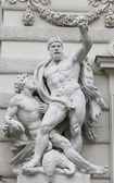 Statue of Hercules and Busiris — Stock Photo
