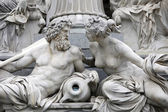 Danube and Inn, detail of Pallas-Athene fountain, Vienna — Stock fotografie
