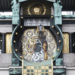 Detail of the famous Jugendstil Ankeruhr in Vienna — Stock fotografie