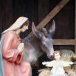 Nativity Scene from Vienna square - Stock Photo