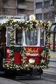 Kerstmis tram — Stockfoto