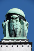 Owl, architectural detail — Stock Photo