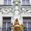 Princess Libuse statue on St. Charles Street, Prague, Czech Republic — Stock Photo