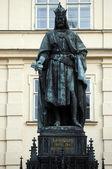 Socha Karla iv v Praze, Česká republika — Stock fotografie