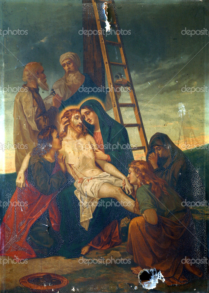 13th Stations of the Cross, Jesus' body is removed from the cross — Stock Photo #8976985