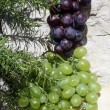 Stock Photo: Grapes on a stone background