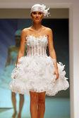 Wedding dresses fashion show — Stock Photo