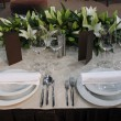 Beautiful table set for wedding — Stock Photo #9182872