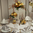 Beautiful table set for wedding — Stock Photo #9185968