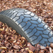 Stock Photo: Buried tire