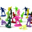 Colorful toy soldiers — Stock Photo