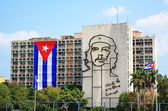 Iconic steel outline of Che Guevara's face in Havana, Cuba — Stock fotografie