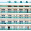 Ocean liner cabins background - Stock Photo
