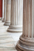 Classical Greek columns in a row — Stock Photo