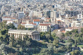 View of Athens with temple of Hephaistos in foreground, Greece — Stock Photo
