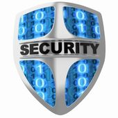 Shield security — Stock Photo