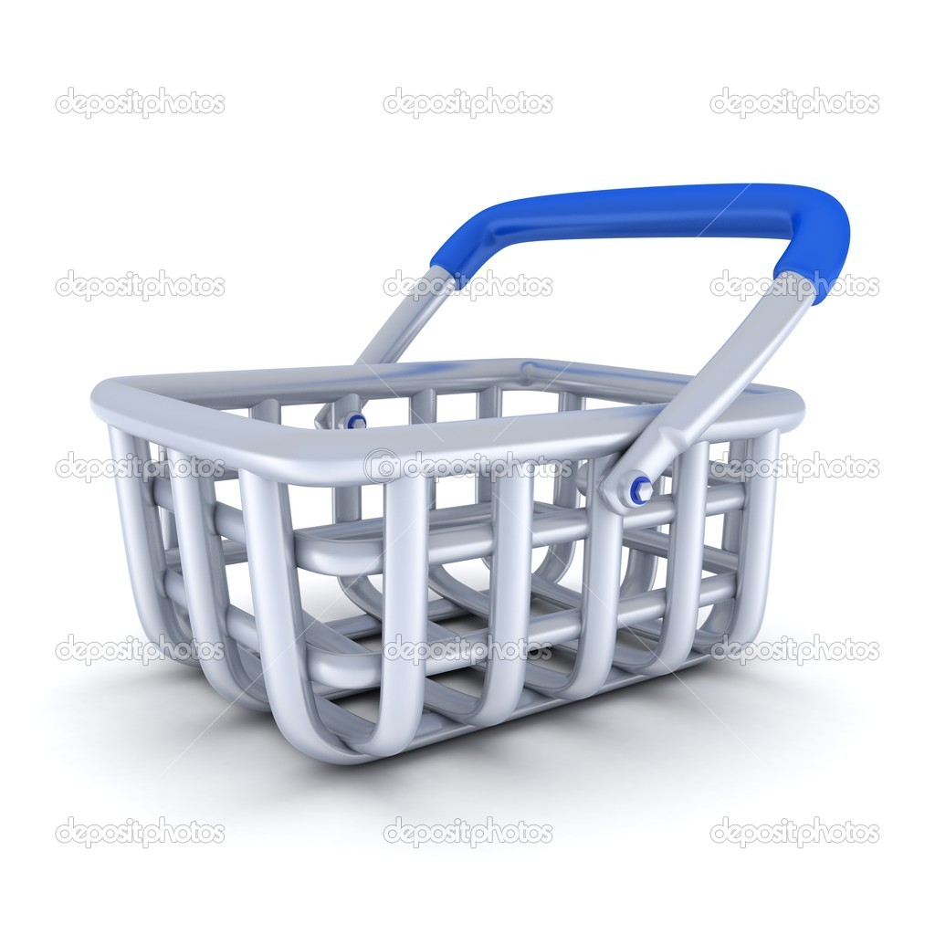 Cart on a white background (done in 3d) — Stock Photo #10500132
