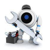 Robot and tools — Stock Photo