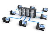 Počítačová síť — Stock fotografie