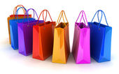 Shop bag row — Stock Photo