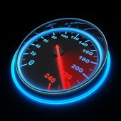 Speedometer car — Stock Photo