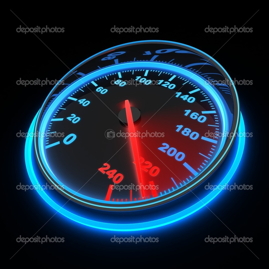 Speedometer and arrow on 220 (done in 3d) — Stock Photo #9811848