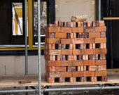 Tijolo na construção — Foto Stock