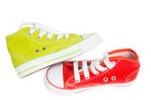 Green and red sneaker — Stock Photo