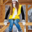 Young woman outdoor in winter — Stock Photo #8544829