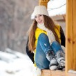 Young woman outdoor in winter — Stock fotografie #8544848