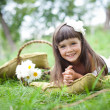 Beautiful girl outside in a park — Stock Photo #8545693