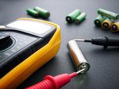Testování baterií — Stock fotografie