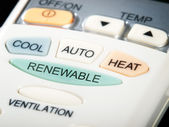 Renewable button — Stock Photo