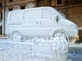Frozen van — Stock Photo