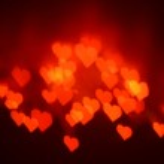 Bokeh hearts background — Stock Photo