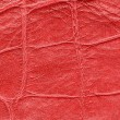 Stock Photo: Red gridded leather texture