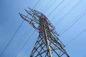 Pylon and transmission power line — Stock Photo