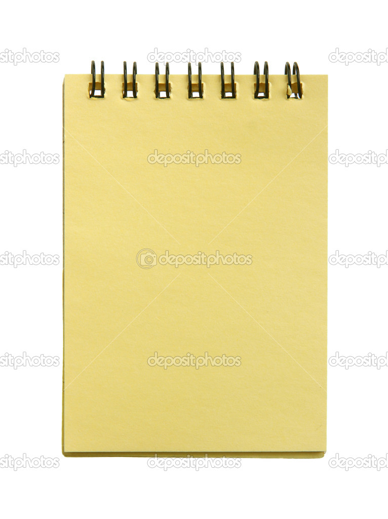 Notebook page isolated on a white background.  Stock Photo #10658013