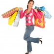 Woman on a Shopping Spree — Stock Photo #9937514