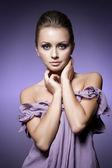 Violett skönhet — Stockfoto