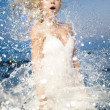 Young woman refreshing — Stock Photo