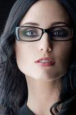 Brunette wearing glasses — Stock Photo